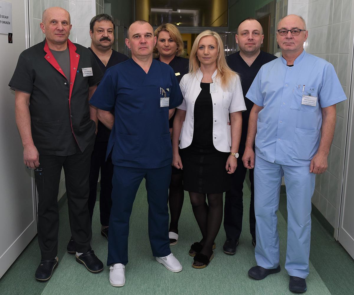 Zespół Lekarski Oddziału Chirurgii w Szpitalu Specjalistycznym Artmedik Sp. z o.o.